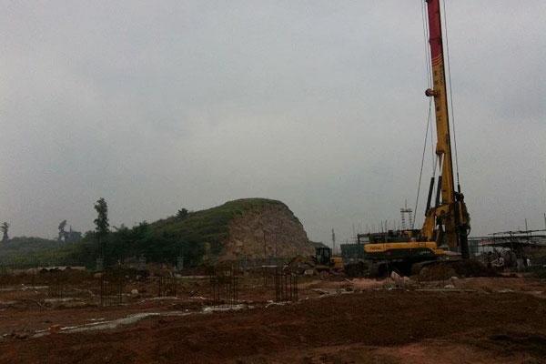2013年10月桩基施工