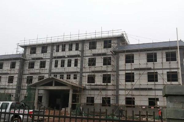 2014年1月办公大楼主体完工
